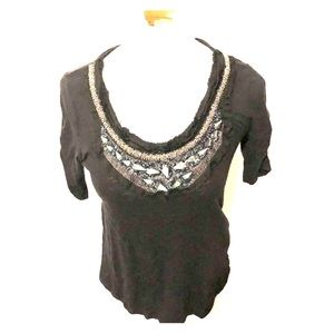 Anthropologie Deletta black top size xs